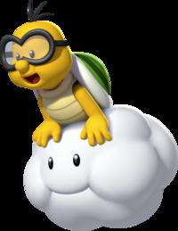 tortue sur un nuage dans le jeu vidéo Mario Kart